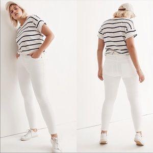 """Madewell 9"""" High Rise Skinny Jean in White NWT"""